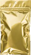 4 x 6 1/2 Hanging Zipper Barrier Bag (Pack of 100) Gold Metallic