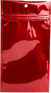 4 x 6 1/2 Hanging Zipper Barrier Bag (Pack of 100) Red Metallic
