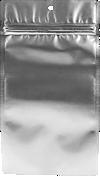 4 x 6 1/2 Hanging Zipper Barrier Bag (Pack of 100) Silver Metallic