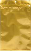 6 x 9 1/4 Hanging Zipper Barrier Bag (Pack of 100) Gold Metallic