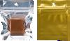 2 x 2 Hanging Zipper Barrier Bag (Pack of 100) Silver Metallic w/Gold�