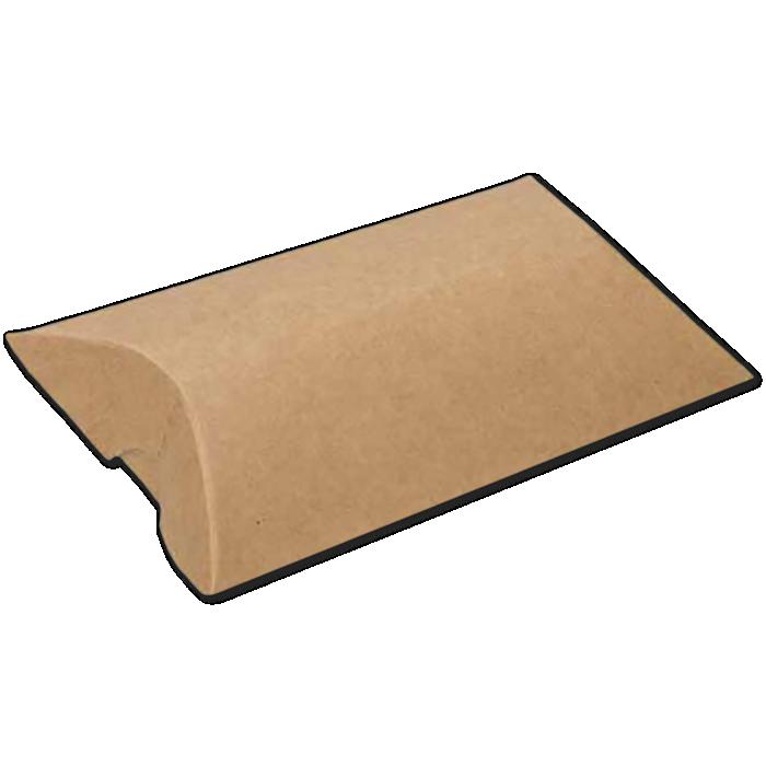2 1/2 x 7/8 x 4 Pillow Box (Pack of 25) Brown Kraft