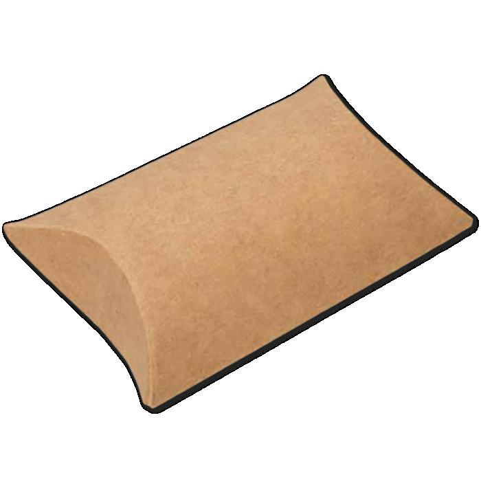 2 x 3/4 x 3 Pillow Box (Pack of 25) Brown Kraft