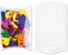 5 x 1 1/4 x 7 Pillow Box (Pack of 25) Clear