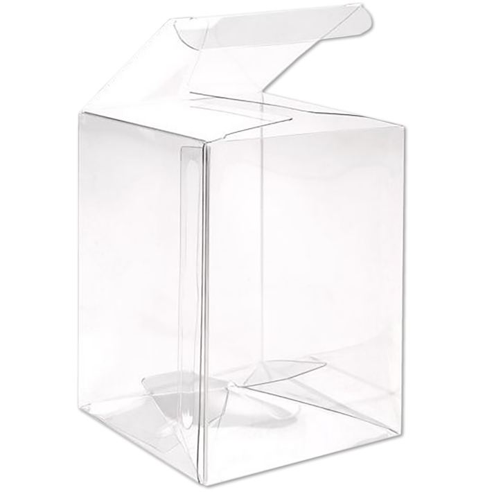 3 x 3 x 4 Crystal Clear Box w/Pop & Lock Top (Pack of 25) Clear
