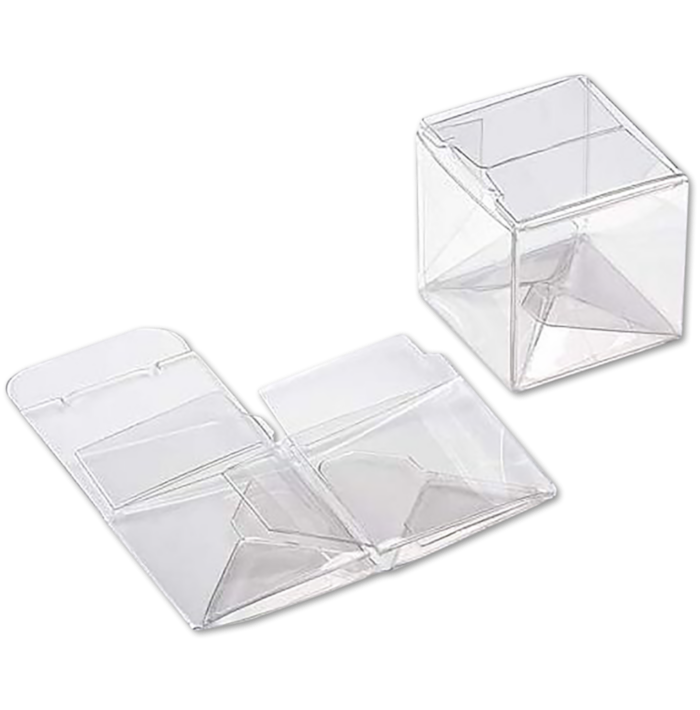 1 1/2 x 1 1/2 x 1 1/2 Crystal Clear Box w/Pop & Lock Top (Pack of 25) Clear