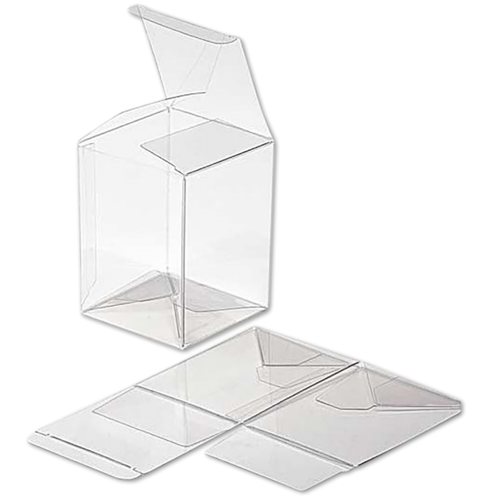 6 1/4 x 5 1/2 x 7 5/8 Crystal Clear Box w/Pop & Lock Top (Pack of 25) Clear