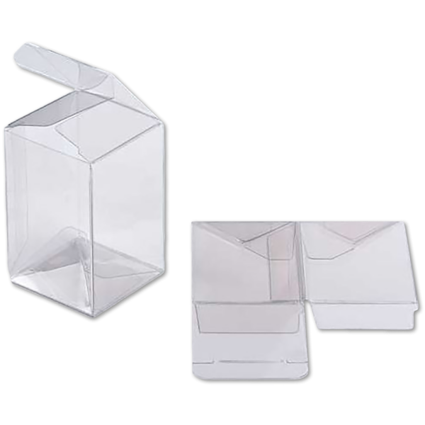 4 x 4 x 6 Crystal Clear Box w/Pop & Lock Top (Pack of 25) Clear