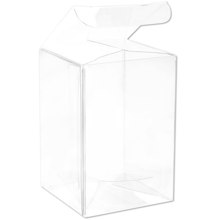 2 x 2 x 3 Crystal Clear Box w/Pop & Lock Top (Pack of 25) Clear