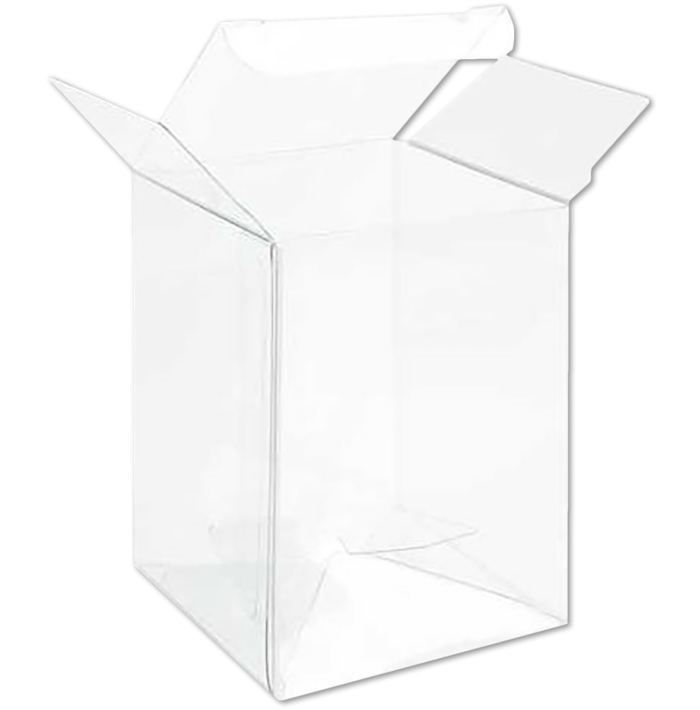 2 1/2 x 2 1/2 x 3 5/8 Crystal Clear Box w/Pop & Lock Top (Pack of 25) Clear