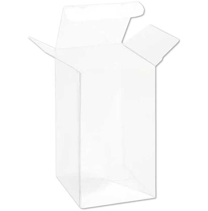 2 1/2 x 2 1/2 x 5 1/4 Crystal Clear Box w/Pop & Lock Top (Pack of 25) Clear