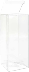 2 9/16 x 2 9/16 x 6 1/16 Crystal Clear Box w/Pop & Lock Top (Pack of 25) Clear
