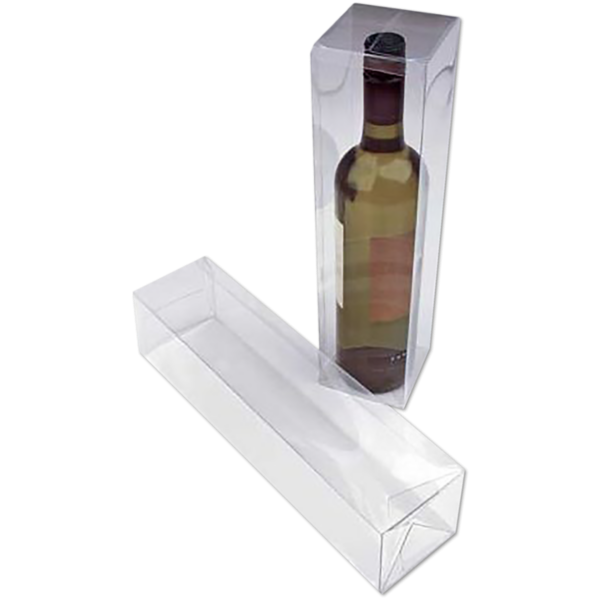 3 3/8 x 3 3/8 x 12 5/8 Crystal Clear Box w/Pop & Lock Top (Pack of 25) Clear