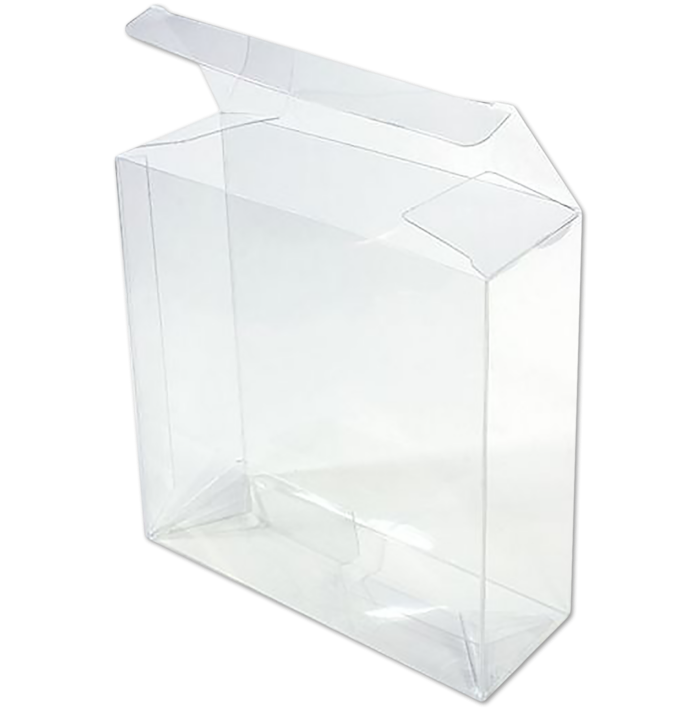 5 5/8 x 2 x 5 5/8 Crystal Clear Box w/Pop & Lock Top (Pack of 25) Clear