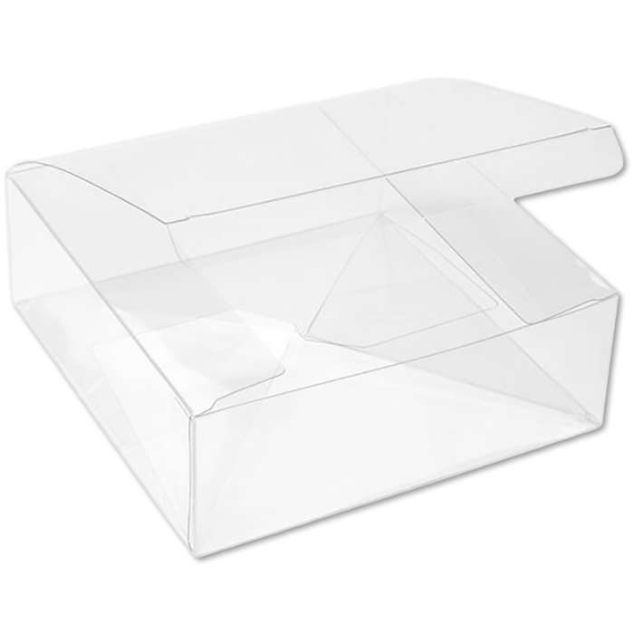 5 5/8 x 5 5/8 x 2 Crystal Clear Box w/Pop & Lock Top (Pack of 25) Clear