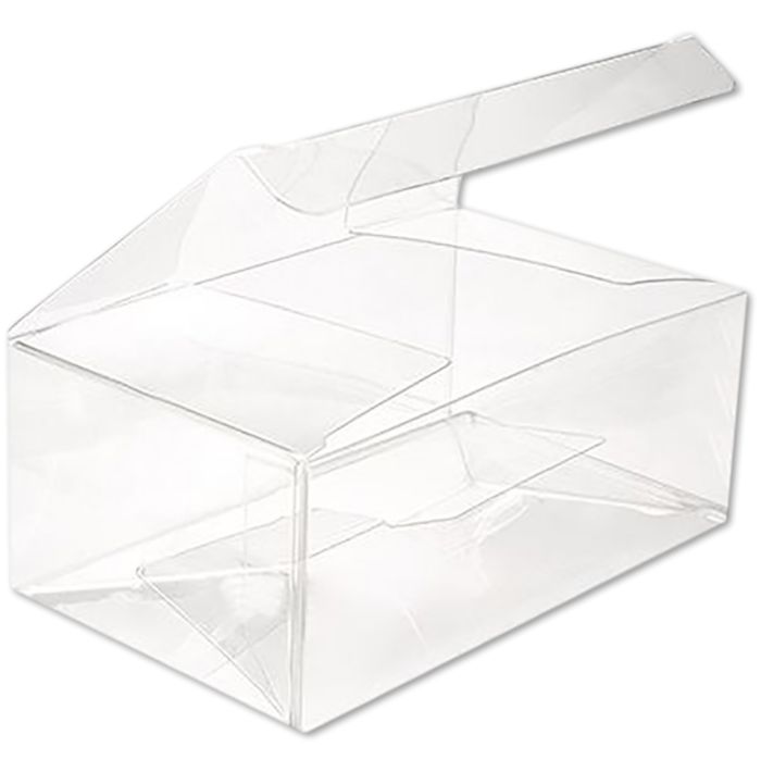 5 x 3 x 2 Crystal Clear Box w/Pop and Lock Top (Pack of 25) Clear