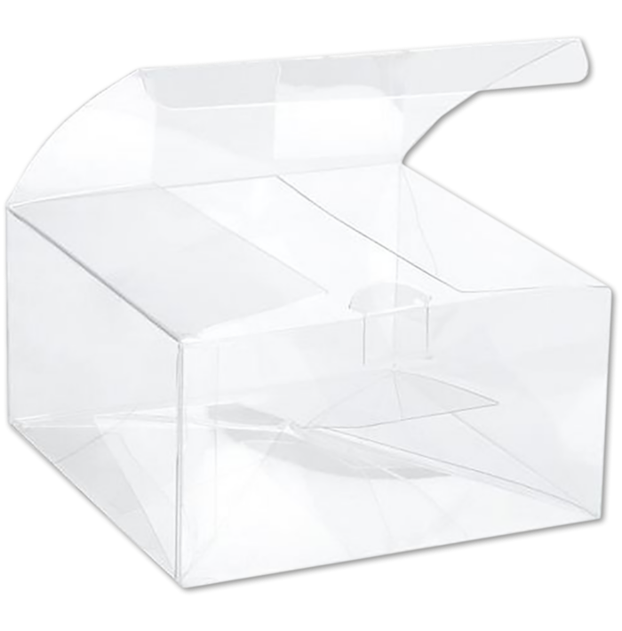 5 5/8 x 5 5/8 x 3 Crystal Clear Box w/Pop & Lock Top (Pack of 25) Clear