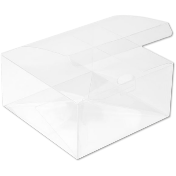 5 7/8 x 5 7/8 x 3 Crystal Clear Box w/Pop & Lock Top (Pack of 25) Clear