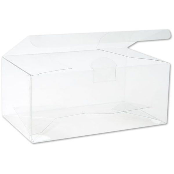6 1/8 x 6 1/8 x 3 Crystal Clear Box w/Pop & Lock Top (Pack of 25) Clear