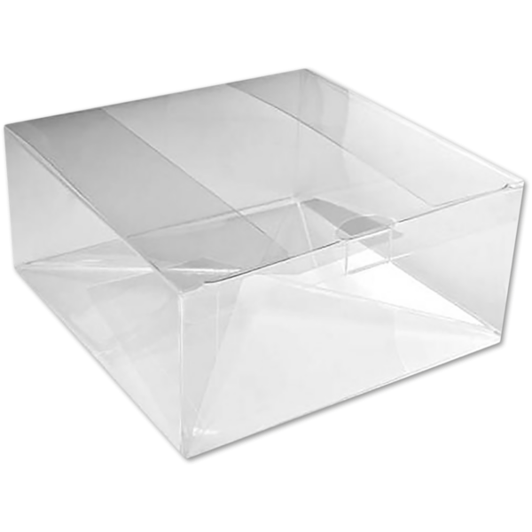 6 5/8 x 6 5/8 x 3 Crystal Clear Box w/Pop & Lock Top (Pack of 25) Clear