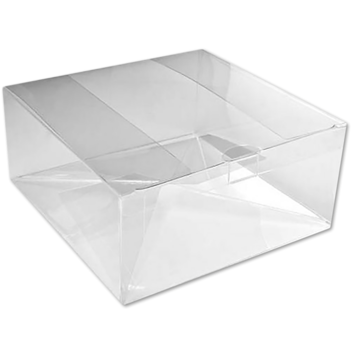 7 1/8 x 7 1/8 x 3 Crystal Clear Box w/Pop & Lock Top (Pack of 25) Clear