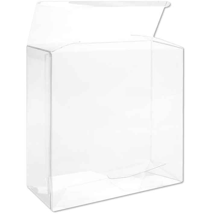 5 1/8 x 2 x 5 1/8 Crystal Clear Box w/Pop & Lock Top (Pack of 25) Clear