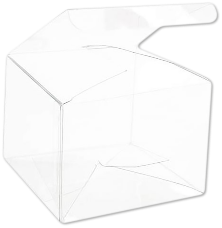 4 x 4 x 3 Crystal Clear Box w/Pop & Lock Top (Pack of 25) Clear