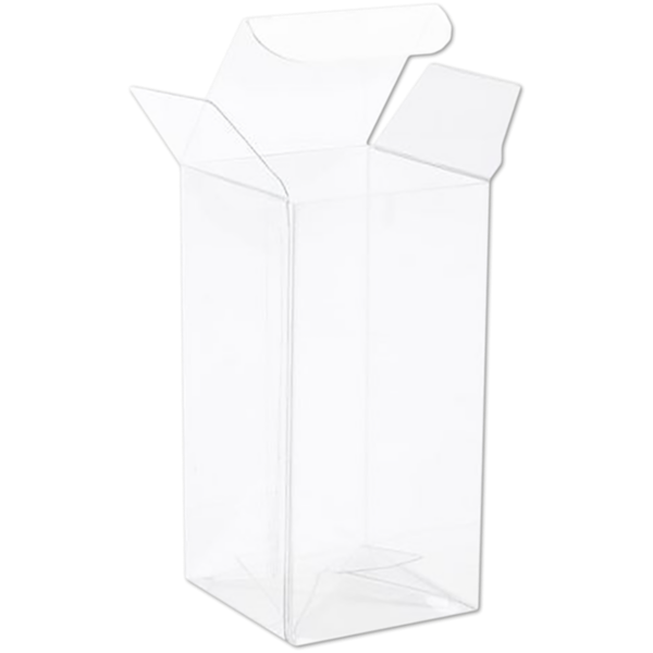 2 1/16 x 2 1/16 x 4 1/8 Crystal Clear Box w/Pop & Lock Top (Pack of 25) Clear
