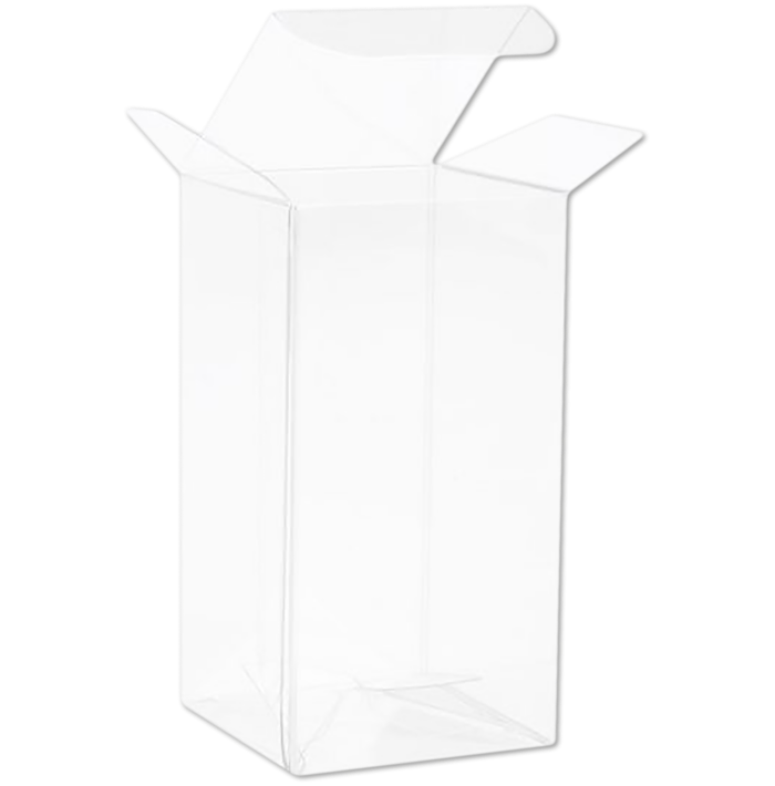 1 5/8 x 1 5/8 x 3 1/8 Crystal Clear Box w/Pop & Lock Top (Pack of 25) Clear