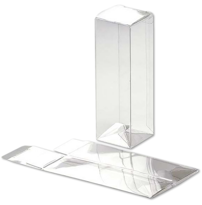 1 5/8 x 1 5/8 x 5 Crystal Clear Box w/Pop & Lock Top (Pack of 25) Clear