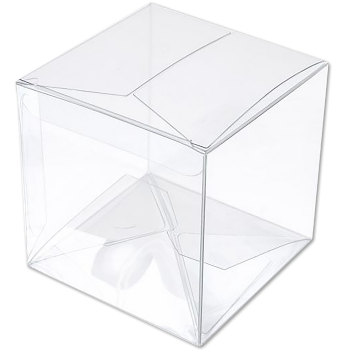 3 x 3 x 3 Crystal Clear Box w/Pop & Lock Top (Pack of 25) Clear