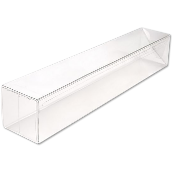 3 x 3 x 12 Crystal Clear Box w/Pop & Lock Top (Pack of 25) Clear