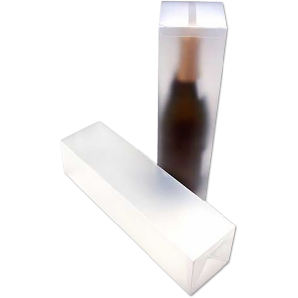 3 3/8 x 3 3/8 x 12 5/8 Frosted Clear Box w/Pop & Lock Top (Pack of 25) Clear