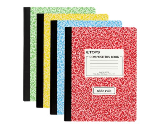 9 3/4 x 7 1/2 Composition Books - Wide Ruled Assorted
