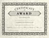 8 1/2 x 11 Certificates - Award Cream Parchment - Award