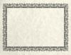 8 1/2 x 11 Certificates - Blank Cream Parchment - Blank