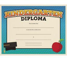 8 1/2 x 11 Certificates - Kindergarten