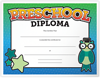 8 1/2 x 11 Certificates - Preschool Glossy White - Pre-School