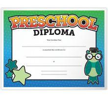 8 1/2 x 11 Certificates - Preschool