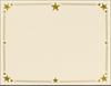 8 1/2 x 11 Certificates - Stars Natural Linen w/ Gold Star Foil