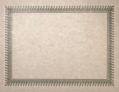 photo relating to Parchment Paper Printable named 8 1/2 x 11 Certificates - Blank
