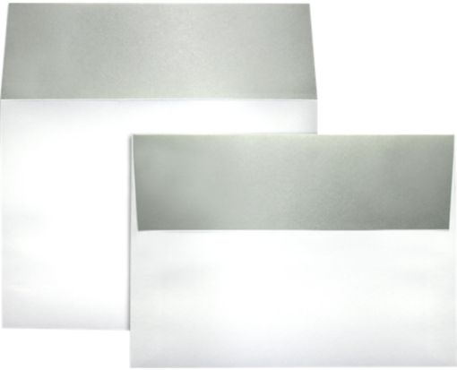 A7 Colorflaps Envelopes (5 1/4 x 7 1/4) Silver Flap