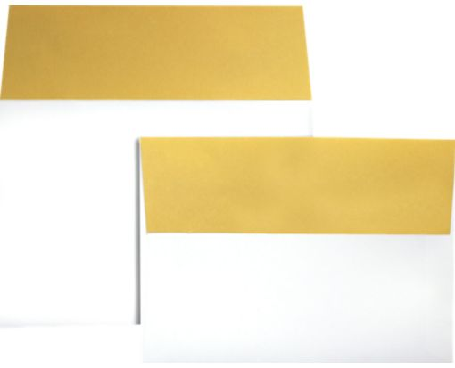 A7 Colorflaps Envelopes (5 1/4 x 7 1/4) Gold Flap