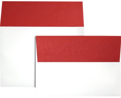 A7 Colorflaps Envelopes (5 1/4 x 7 1/4) Ruby Red Flap