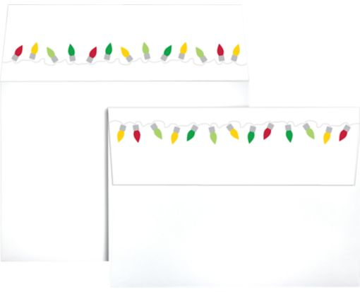 A7 Colorflaps Envelopes (5 1/4 x 7 1/4) Christmas Lights