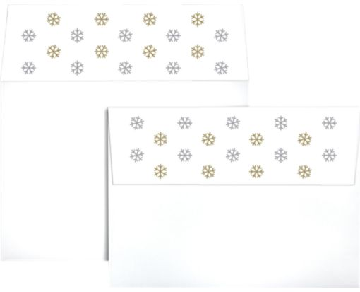 A7 Colorflaps Envelopes (5 1/4 x 7 1/4) Snowflakes