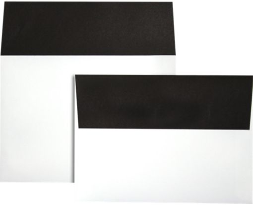 A7 Colorflaps Envelopes (5 1/4 x 7 1/4) Black Flap