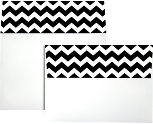 A7 Colorflaps Envelopes (5 1/4 x 7 1/4) Black Chevron
