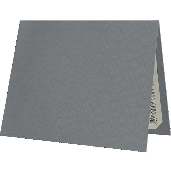 9 1/2 x 12 Certificate Holders Sterling Gray Linen