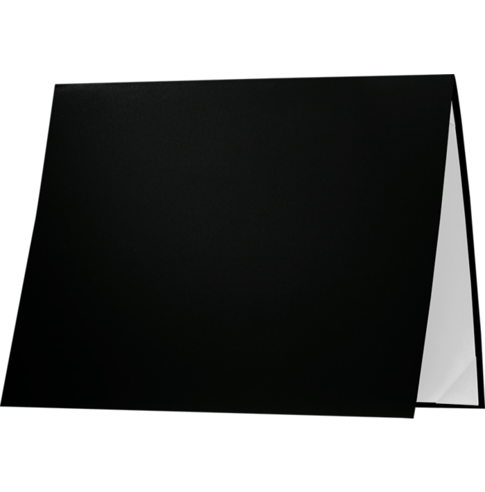 8 1/2 x 11 Leatherette Certificate Holders Black